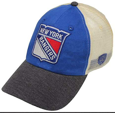 new style 8ac2e 6c685 ... release date old time hockey nhl new york rangers mens boone adjustable  hat one size royal