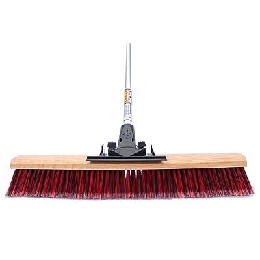 FlexSweep Unbreakable Commercial Push Broom (Contractors 24 Inch) Fine Bristles