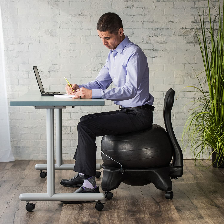 Gaiam Classic Balance ball Chair Charcoal Amazon Sports
