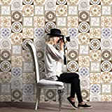 Pag Creative Casa Décor Adesivo autoadesivo in piastrelle in PVC per la stanza da bagno Cucina Decorazione da parete della parete della stanza da bagno 20cmx5m (7.87 x 196.85 pollici) (WTS004)