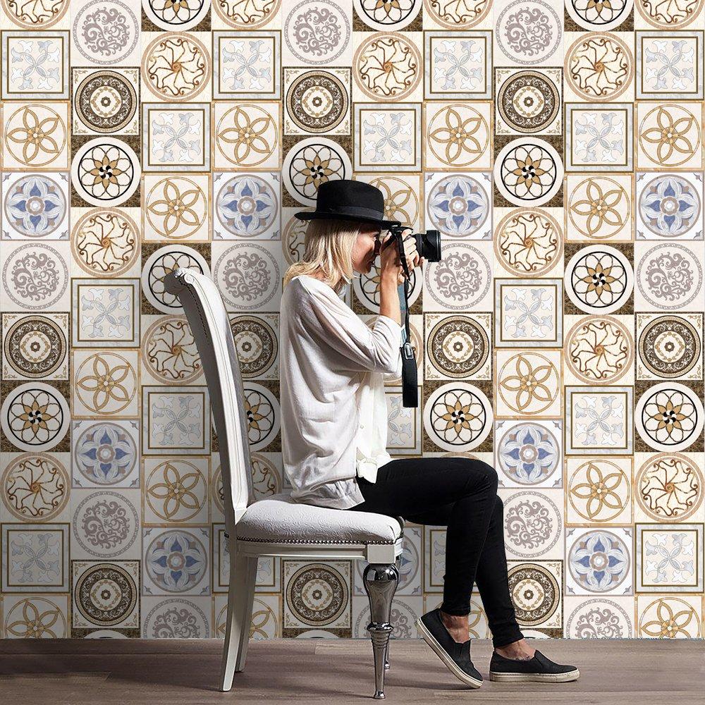 Piastrelle Cucina Mosaico Cheap Quadrato Bianco E