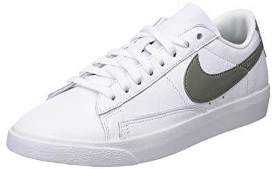 new style ab555 1060d Nike W Blazer Low le, Chaussures de Gymnastique Femme Blanc (White/Dk Stucco