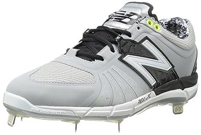 efaa30d0dcfa4 New Balance Men's L3000V2 Metal Low Baseball Shoe,Grey/Black,12.5 ...