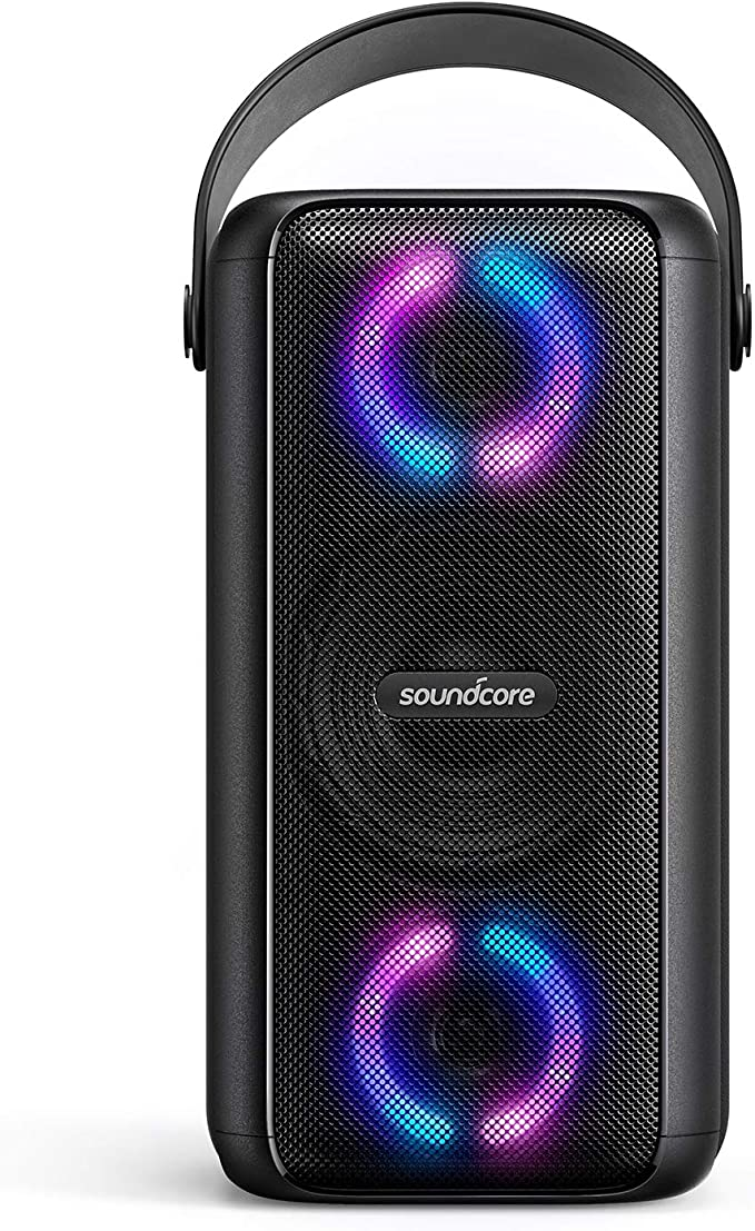 Amazon.com: Soundcore Trance Bluetooth Speaker, Party Speaker with 18 Hour Playtime, BassUp Technology, Huge 101dB Sound, LED Lights, Soundcore App, IPX7 Waterproof, Wireless Speaker for Indoors and Outdoors: Electronics