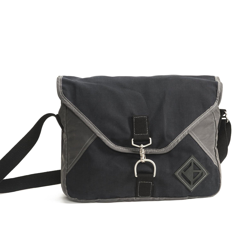 Black Made in The USA Diamond Brand Gear Messenger Bag