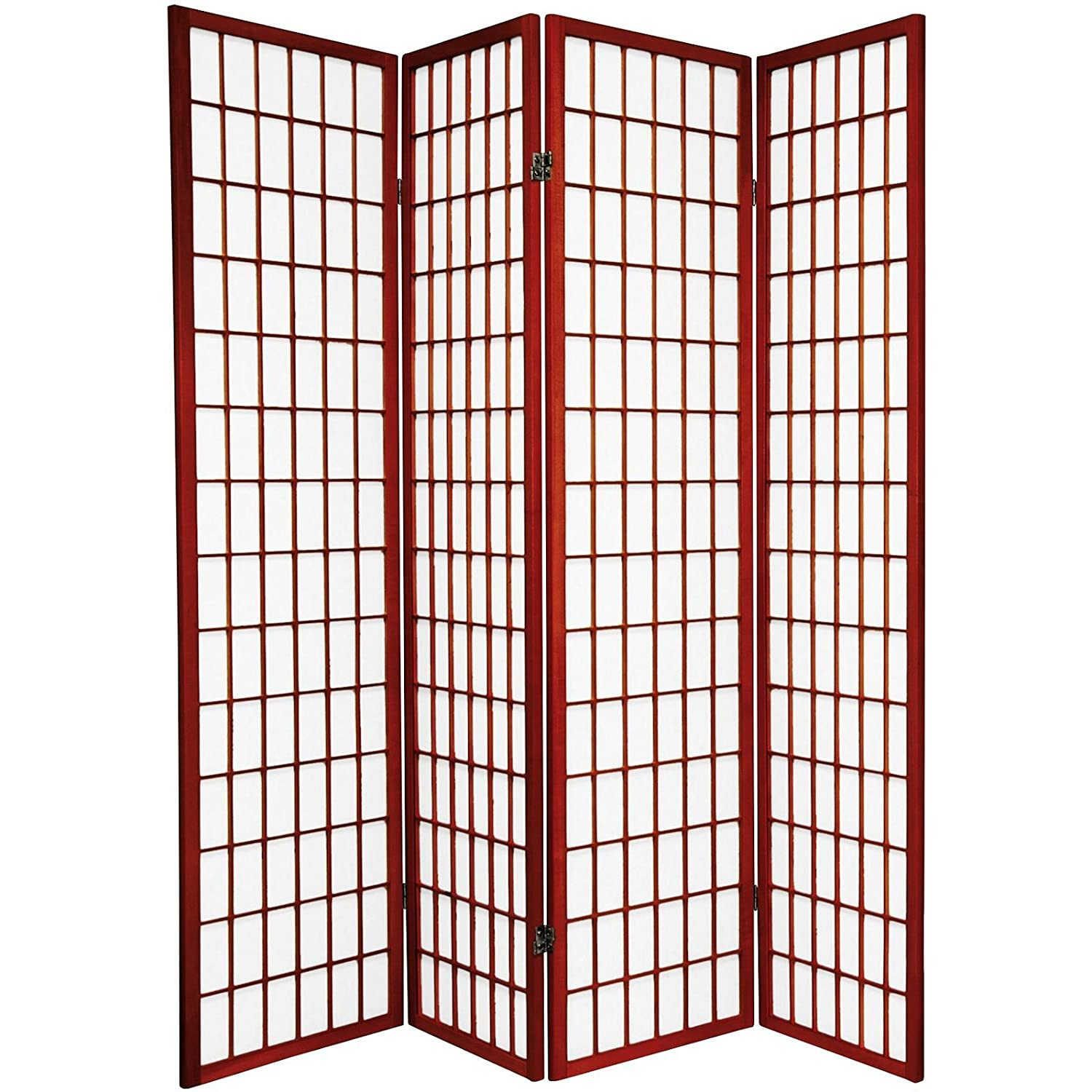 Amazoncom Legacy Decor 4 Panel Shoji Screen Room Divider Cherry