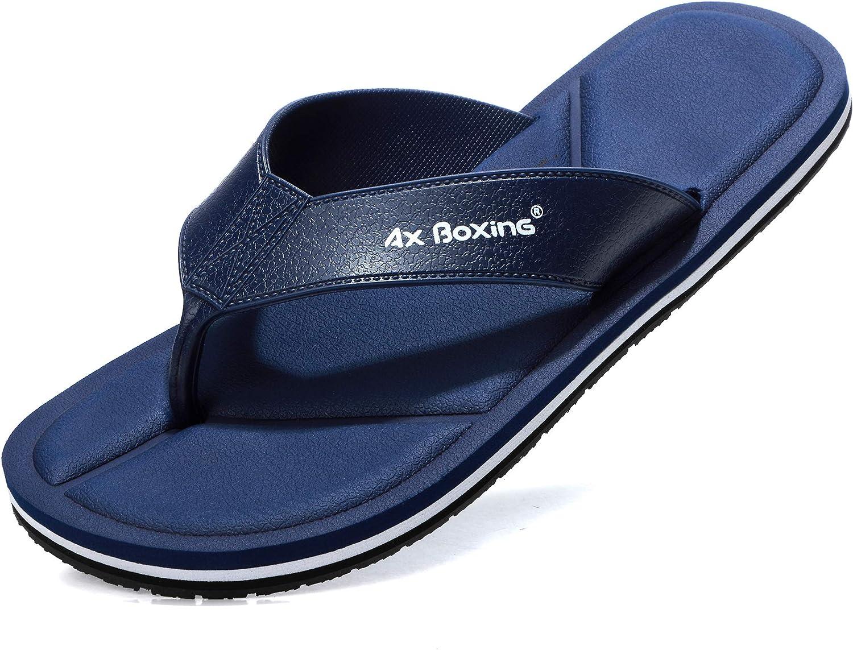 AX BOXING Tongs Homme Chausson Fond De Vague Pantoufles D/ét/é Confortables Piscine//La Plage//Douche Sandales Taille 41-46