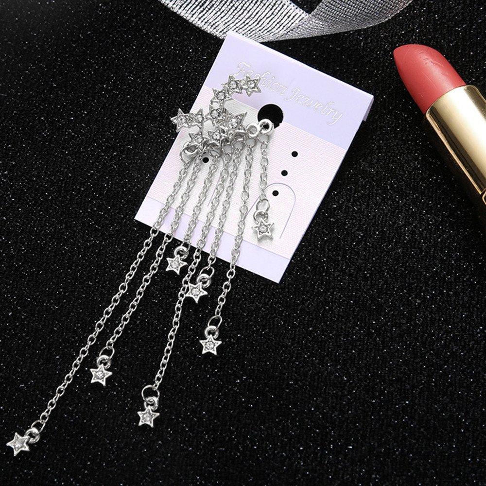 Pendientes Largos de Ywoow, diseño de Estrella fugaz con borlas ...