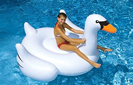 LB Inflatable White Swan Pool Floats,Best Cheapest Swimming Pool Inflatable River Floats,River
