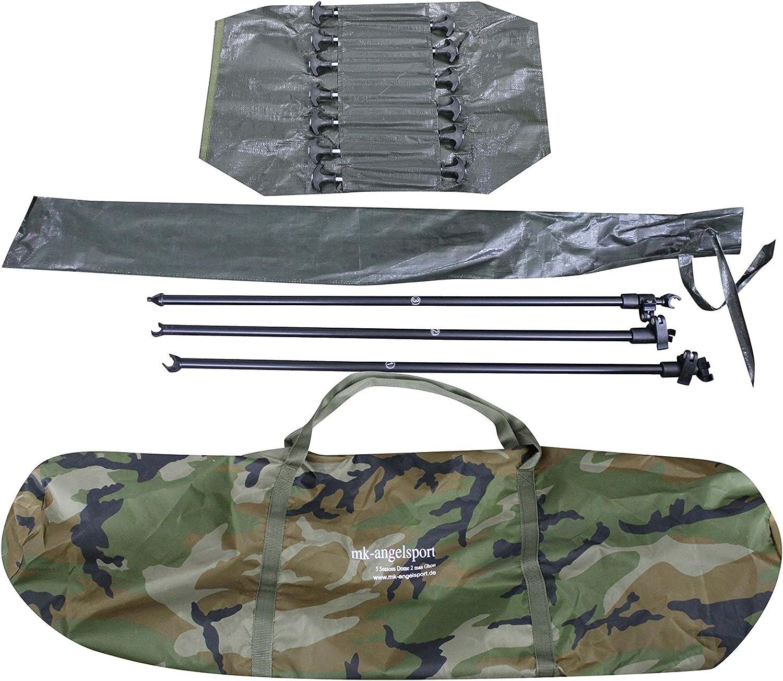 Gummihammer MK-Angelsport5 Seasons Ghost 2 Mann Dome Pro Zelt Karpfenzelt Camouflage incl