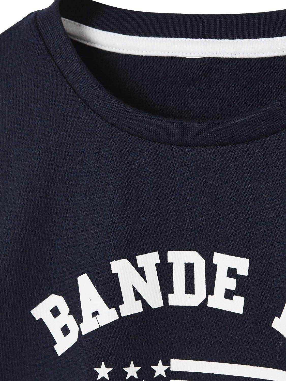 Vertbaudet T-Shirt gar/çon Motif Bande de Champions