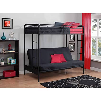 Amazoncom Black Twin Over Futon Metal Bunk Bed Kids Bed