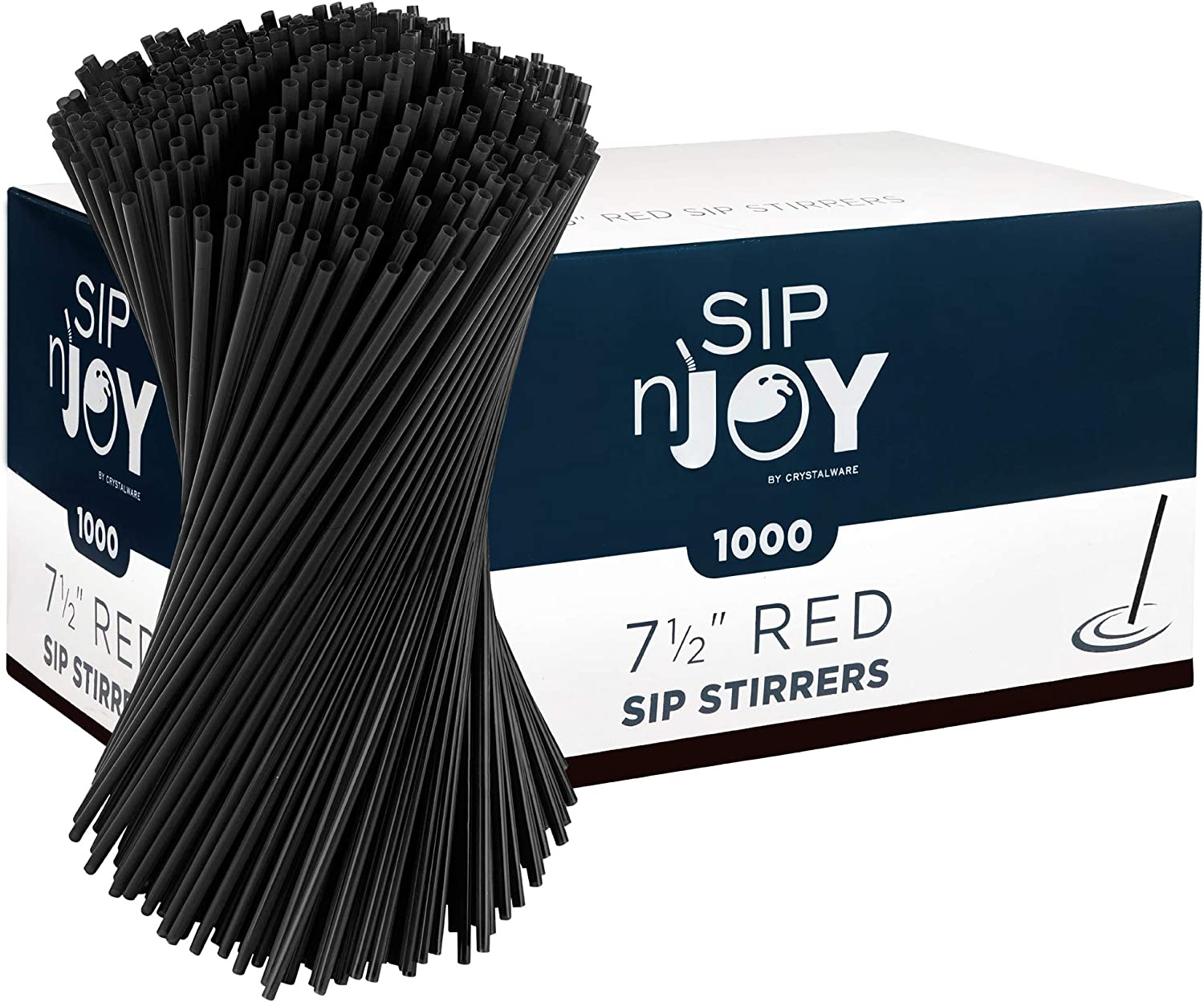 Sticks 1000 Count - Black Cocktails For Sipping 5 inch Plastic Stirrer Stick Disposable Sip Straws Coffee Stirrers Bars