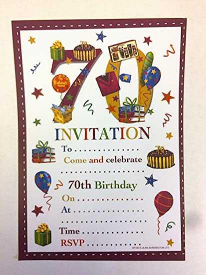 Image Unavailable Not Available For Color 70th Birthday Party Invitations Male Design
