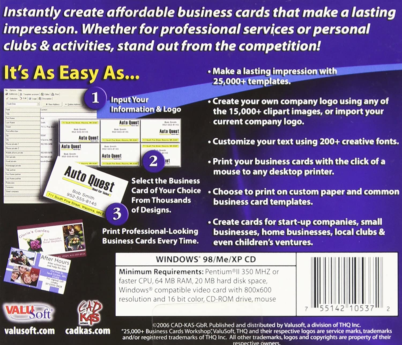 Amazon.com: 25,000+ Business Card Workshop 2.0 (Jewel Case): Software