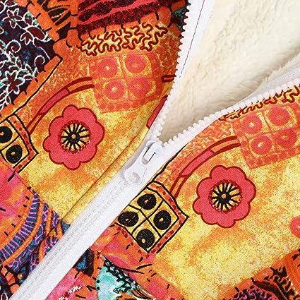 Qmber Baumwolle Leinen flauschigen Pelz Reißverschluss Plus