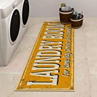 Ottomanson Laundry Collection - Alfombra para Pasillo (50,8 x 149,9 cm), Color Naranja