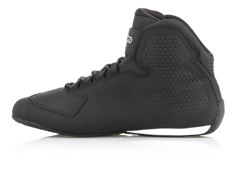 Alpinestars Mens Sektor Shoe 10.5, Black Yellow Flourecent