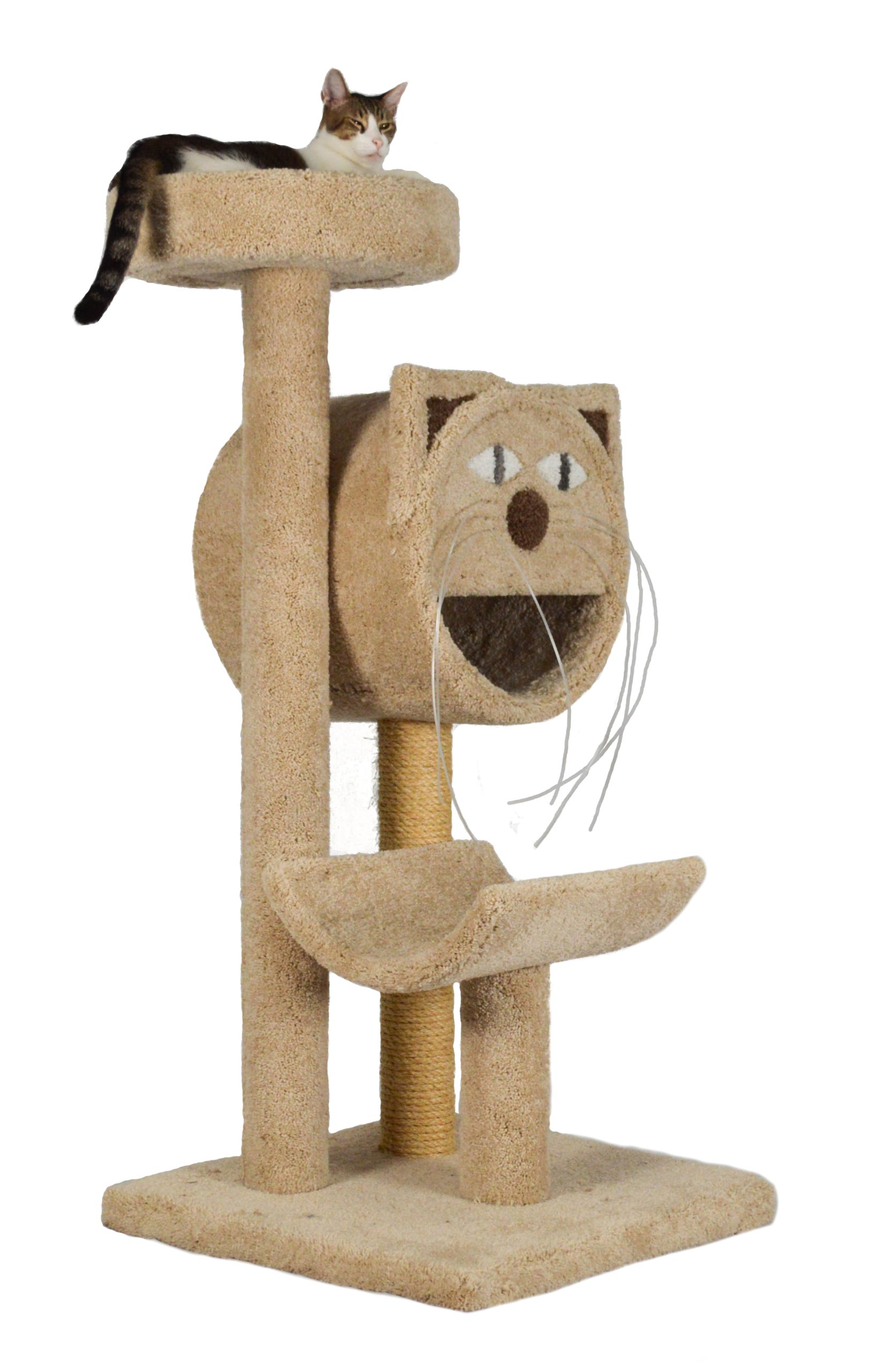 Molly and Friends ''Molly's Choice'' Premium Handmade 3-Tier Cat Tree with Sisal, Model 283, Beige