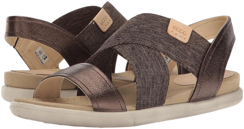 Ecco Sandale Damen Damara Sandale Ecco Offene Keilabsatz Braun (50533licorice/Powder) 0fb544