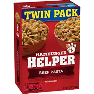Betty Crocker Dry Meals Hamburger Helper Beef Pasta and Sauce Mix, 12 Ounce