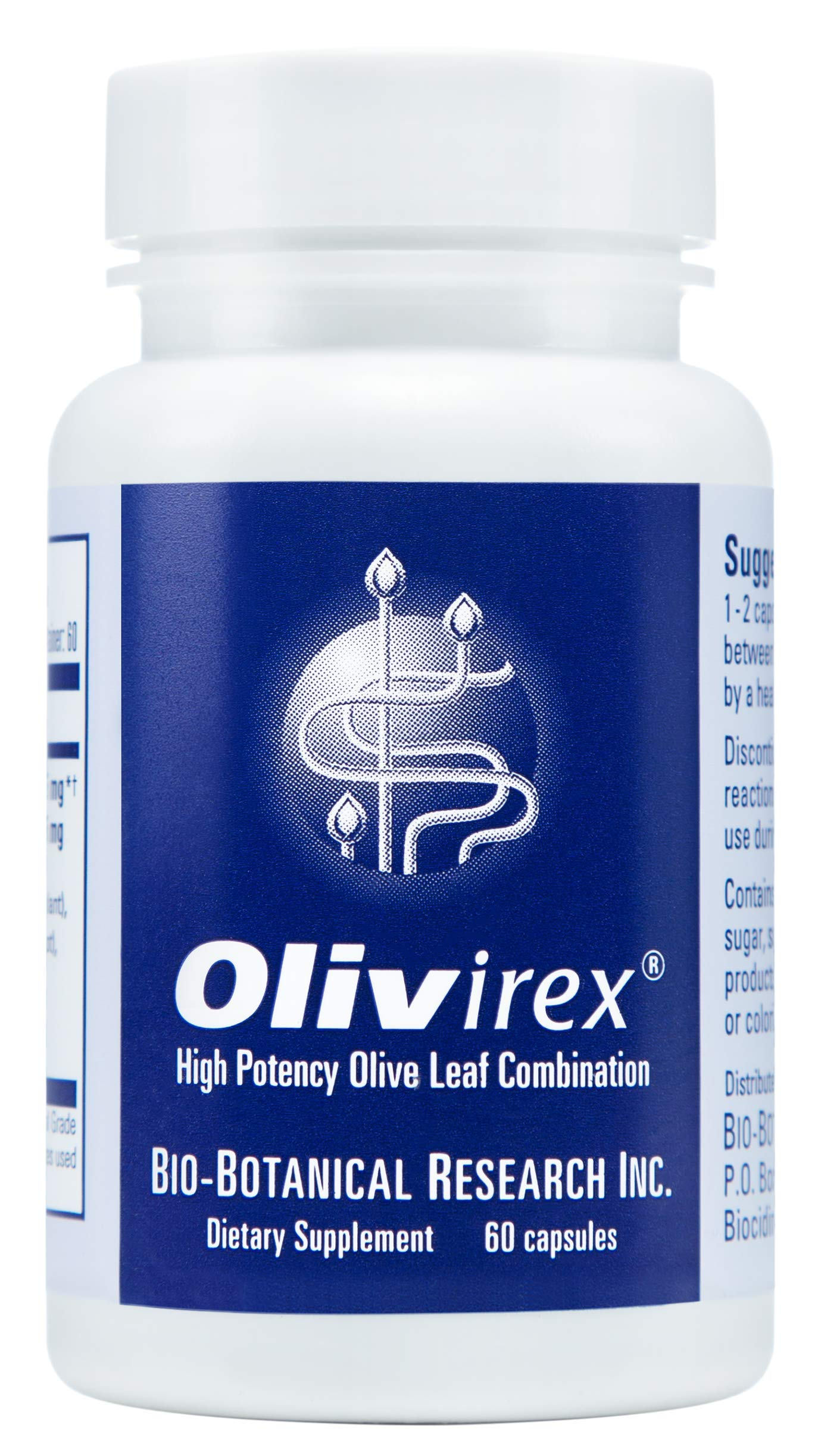 Olivirex High Potency Olive Leaf Combination by Biocidin - Olive Leaf Extract with Adaptogens & Herbs to Support Detox - Immune Support Supplement (60 Capsules)