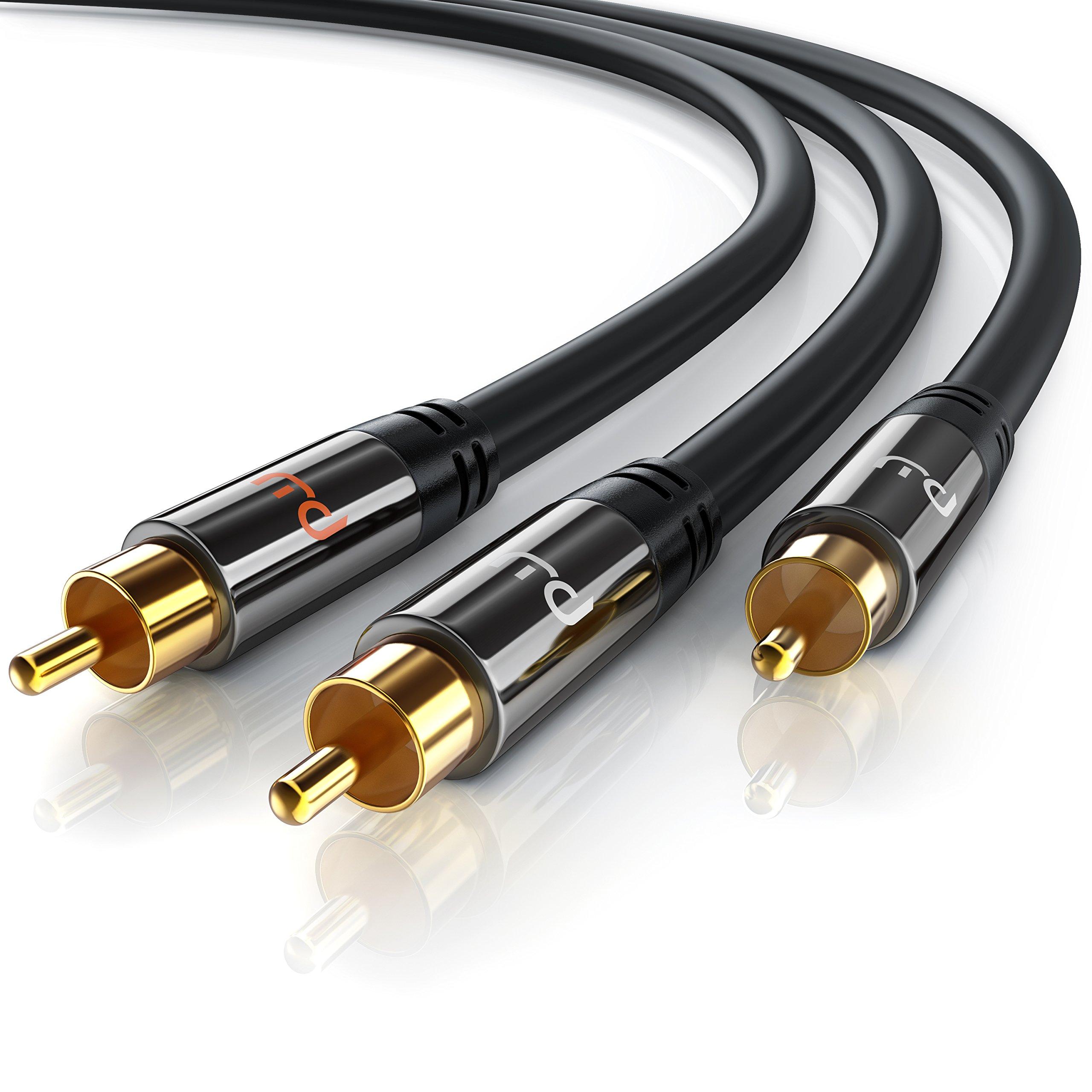 Primewire - 3m HQ Y Subwoofer Cable | 1x Conector RCA Macho a 2X Conectores RCA
