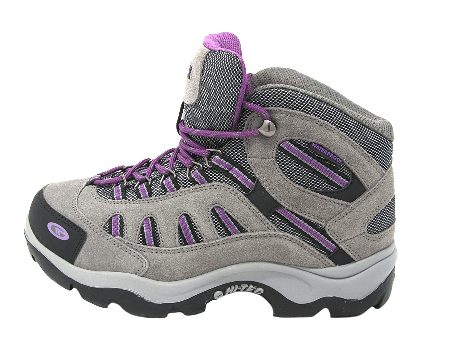 Hi-Tec Women's Bandera Mid-Rise Waterproof Hiking Boot B074NBRWD5 9 B(M) US|Grey/Viola