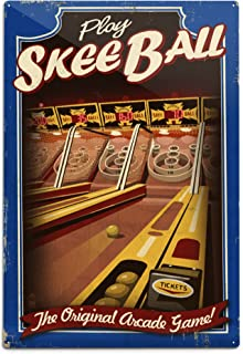 product image for Lantern Press Skee Ball - Arcade Redux 78404 (6x9 Aluminum Wall Sign, Wall Decor Ready to Hang)