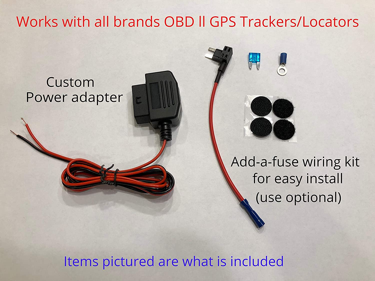 Amazon.com: OBD ll GPS Tracker wired conversion kit power adapter ...