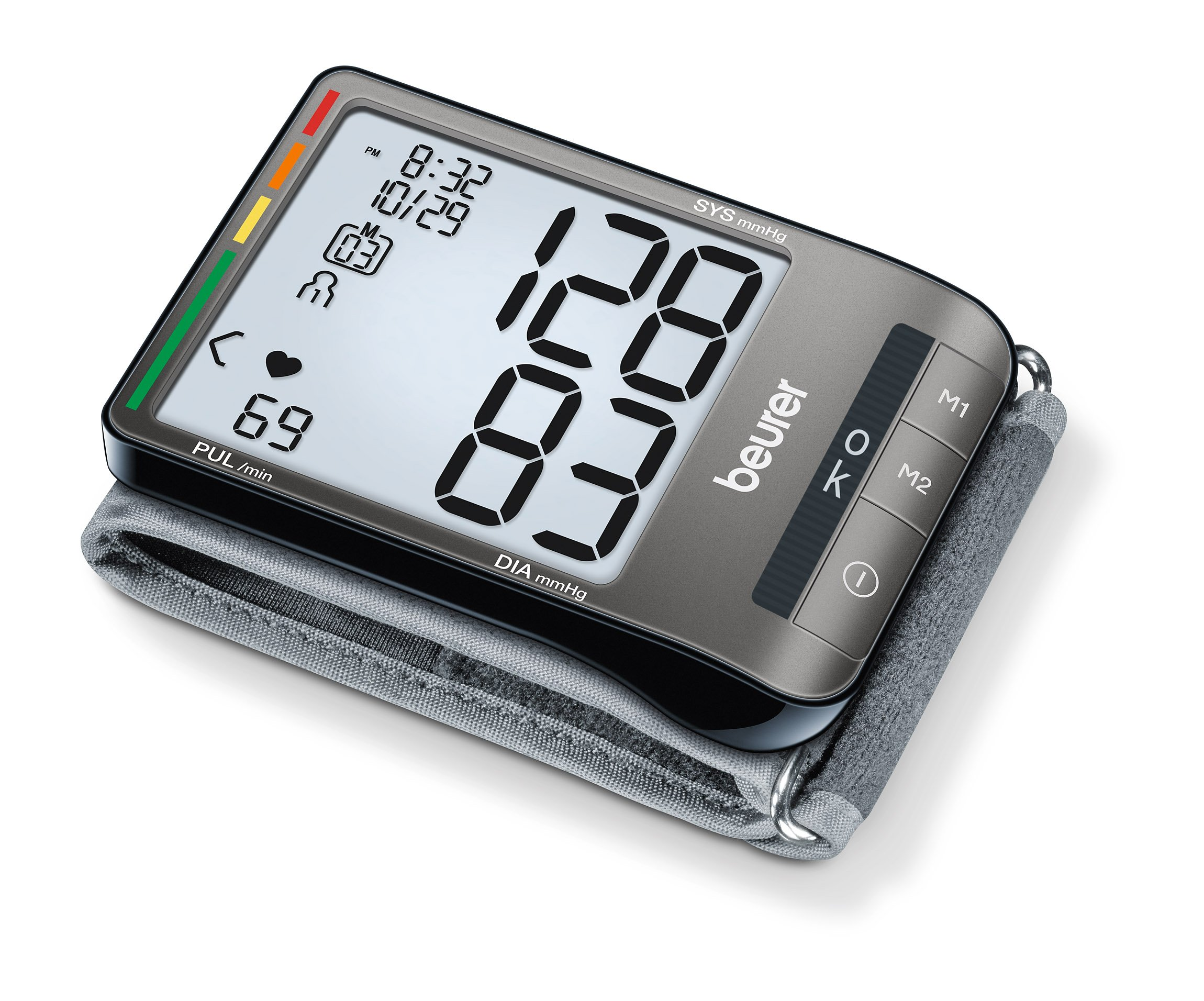 Beurer Wrist Blood Pressure Monitor, Fully Automatic with Accurate Readings, Adjustable Wrist Cuff and Large LCD Display