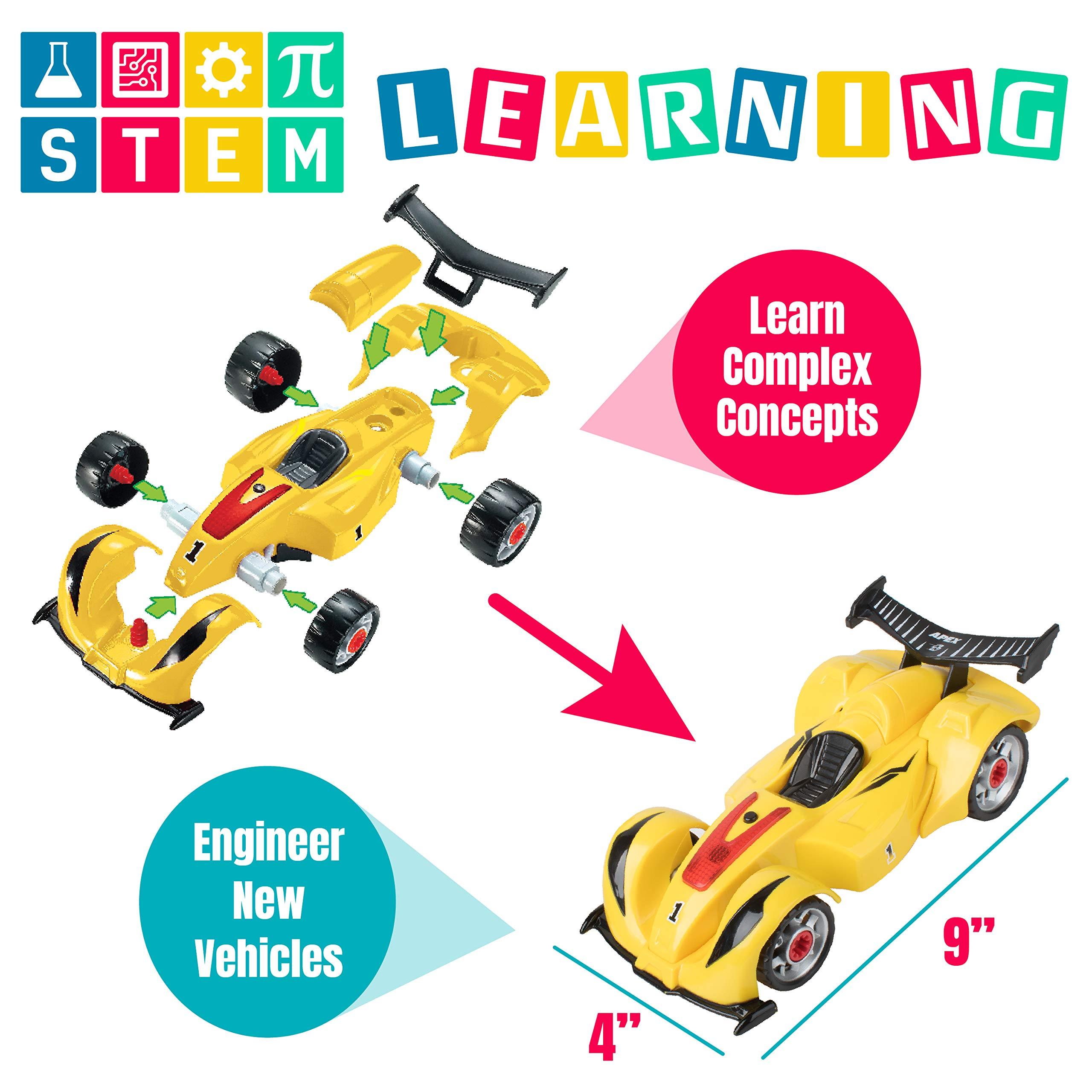 USA Toyz Race Car Take Apart Toys - 52pk Build a Car STEM Building Toys Set, Take Apart Car Building Kits for Kids w/ Car Drill Tool for Boys or Girls by USA Toyz (Image #2)