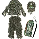Yaheetech Camo Woodland Camouflage Forest Design Ghillie Suit, 4-Piece, XL/XXL