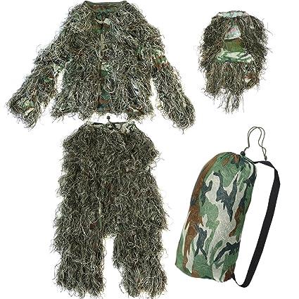 Amazon.com: Yaheetech Traje de camuflaje, diseño de ...