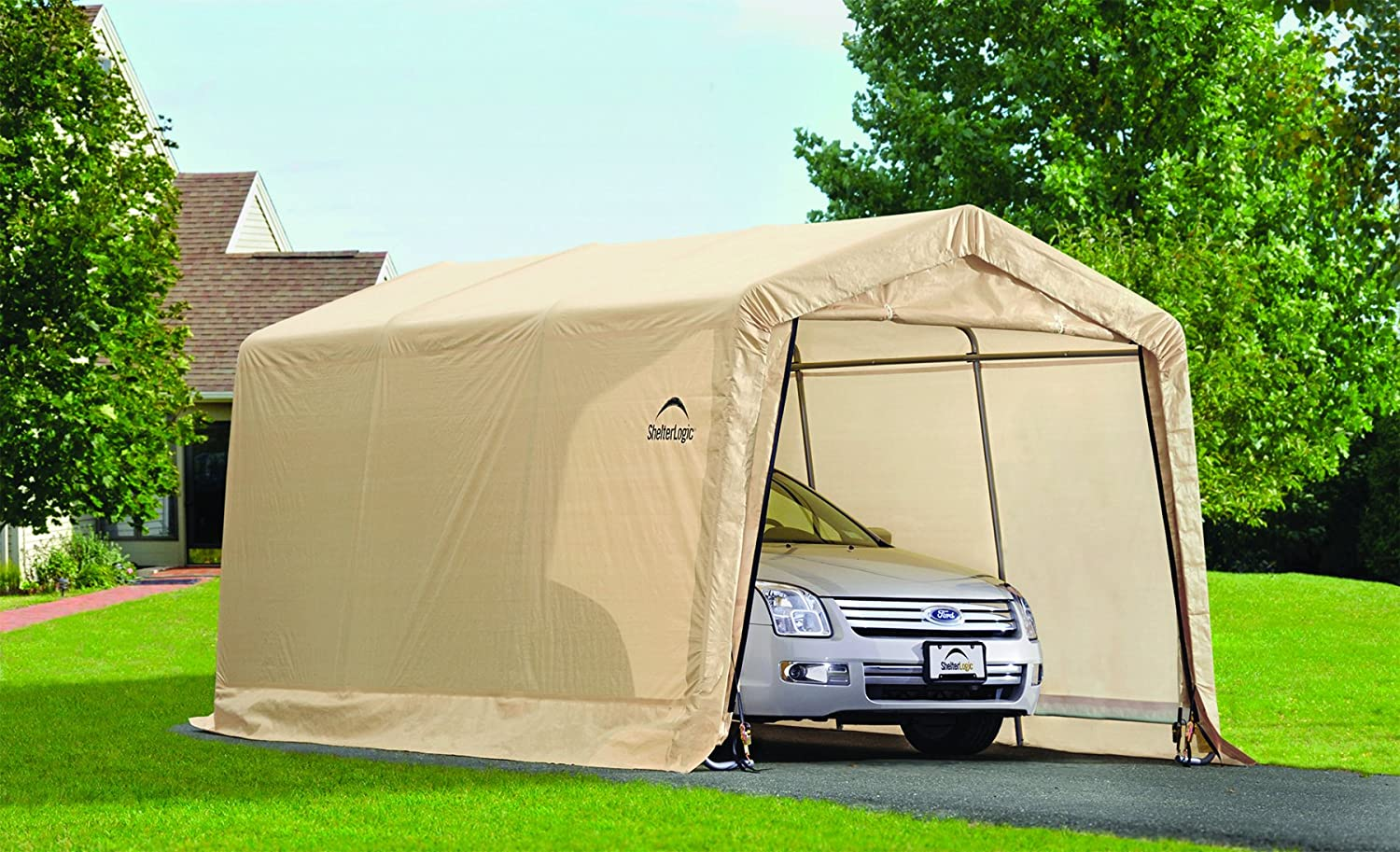 Car Garage Tent Amp Amazon Com Shelterlogic Peak Style