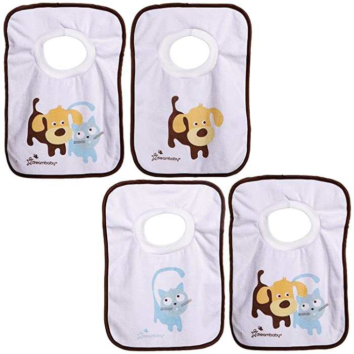 Dreambaby L539 Pullover Bibs-Pets (Pack of 4)
