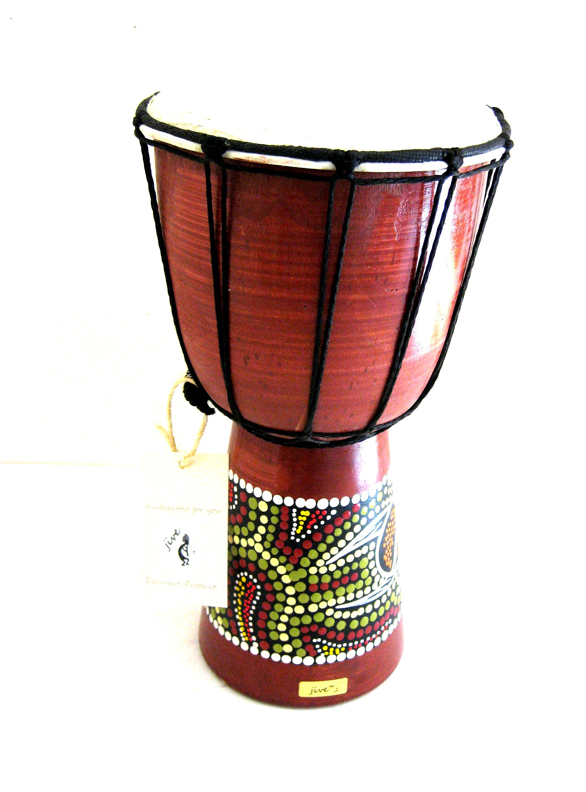 Djembe Drum Bongo Congo African Drum -MED SIZE- 12'', JIVE BRAND- Professional Sound