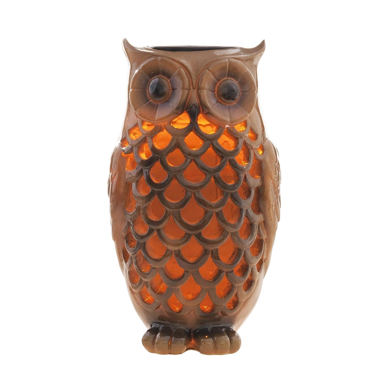Owl Light Solar Outdoor Garden Yard Patio Decor LED Glow Bird Gift ...