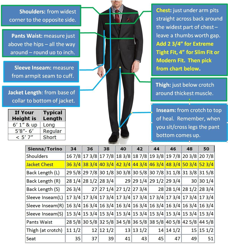 Mens Slim Fit Notched Lapel 3 Piece Suit Set Designed by Taheri French Blue 80/20(US 36R / EU 46R / Waist 30) by Sebastian Taheri Uomo (Image #7)