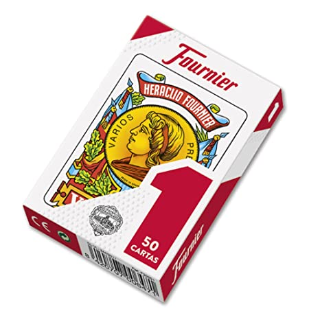 Fournier 1-50 Spanish Playing Cards (Red)