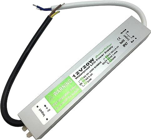 DC 12V 150W Conductor de Transformador Al aire libre IP67 Impermeable la Tira de LED Fuente de Alimentaci/ón