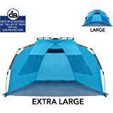 Beach Tent with UPF 50+ Sun Protection by D1S