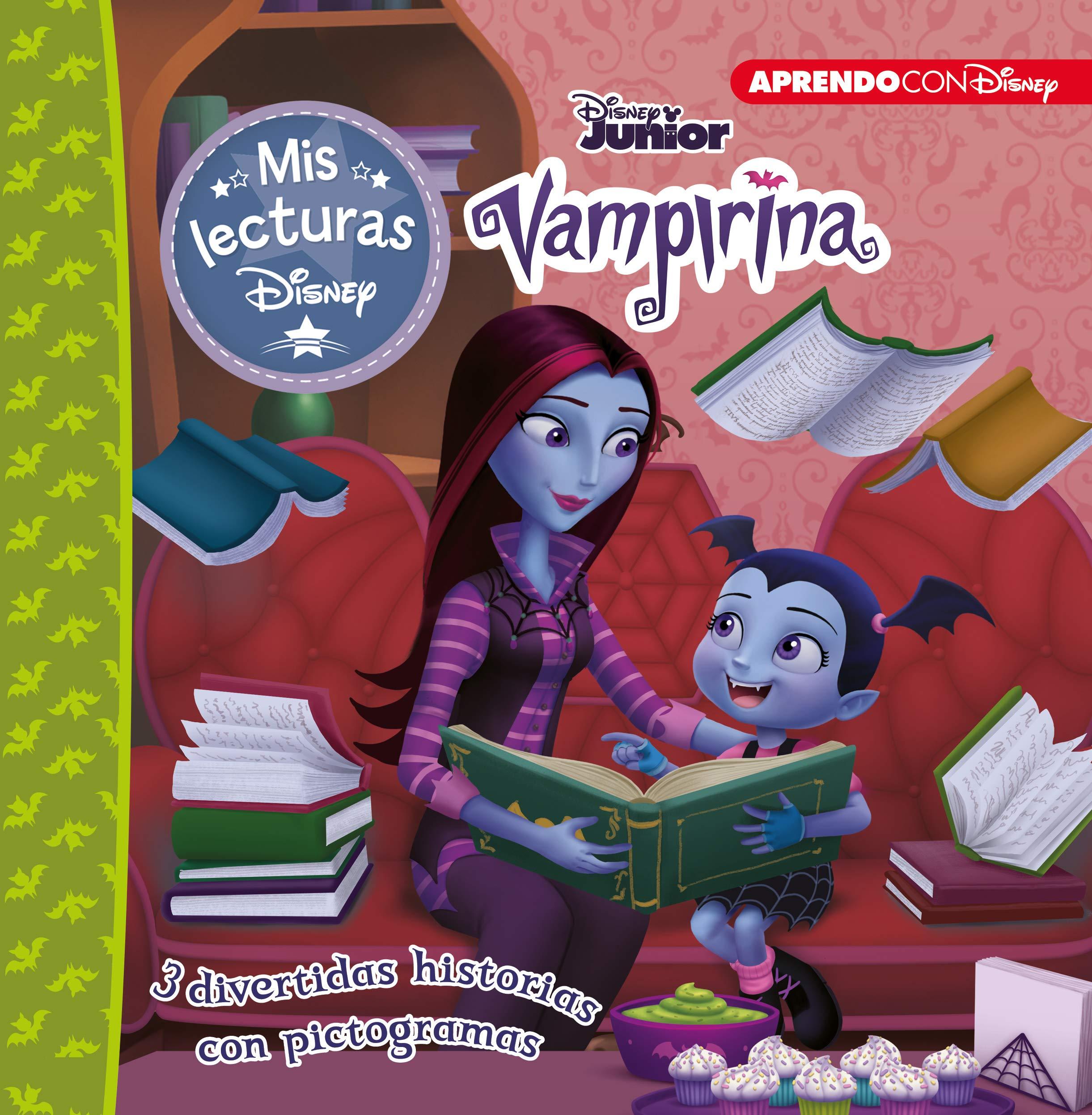 Vampirina (Mis lecturas Disney): 3 divertidas historias con pictogramas: Las chicas Lúgubrez, Hogar vampi-hogar y Ya llega Halloween
