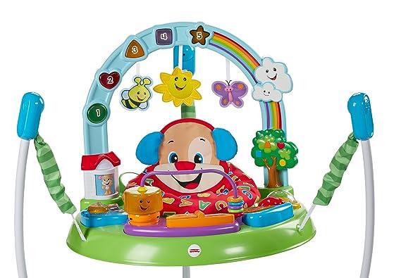 Fisher-Price Saltador activity de perrito, juguete para bebé +6 meses (Mattel FBL69)