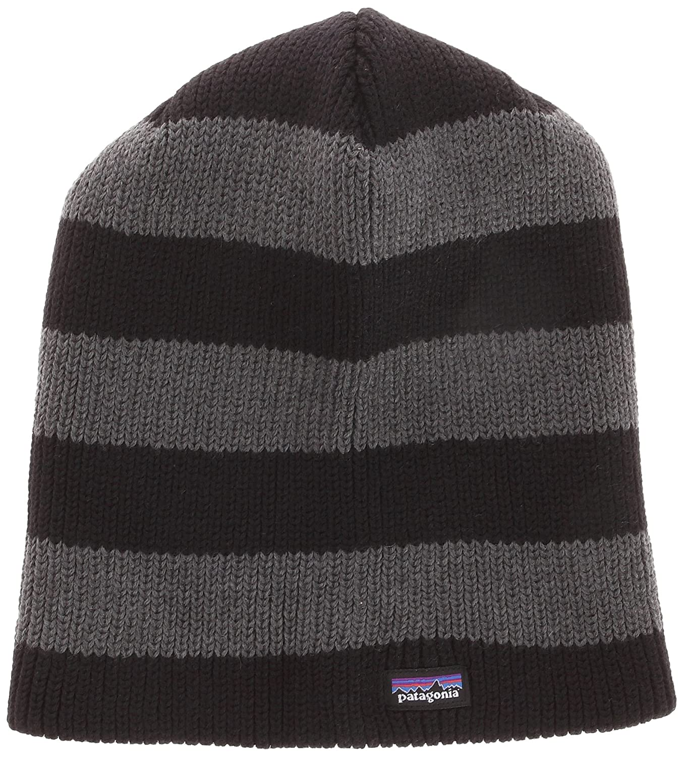 cb1b4fbb3ee Patagonia Sloucher Beanie Unisex Adults ski Hat grey Rugby Stripe  Forge  Grey Size ALL  Amazon.co.uk  Sports   Outdoors