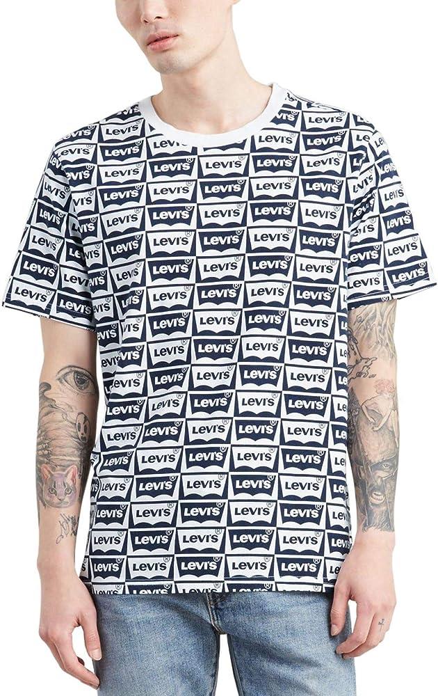 Camiseta Levis Monografica Azul Hombre XXL Azul: Amazon.es: Ropa y accesorios