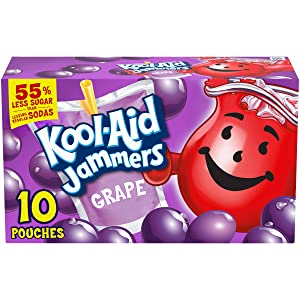 Kool-Aid Jammers Grape Flavored Juice Drink (40 Pouches, 4 Boxes of 10)