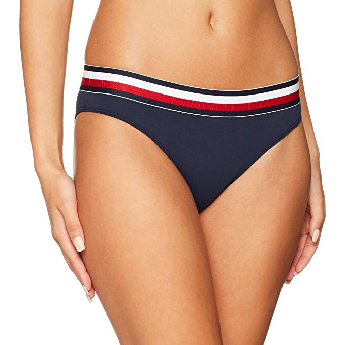 Tommy Hilfiger Bikini para Mujer, Azul (Navy Blazer 416), 34 (Talla