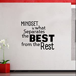 """Mindset is What Separates Best from The Rest - Inspirational Quotes Wall Art Vinyl Decal - 23"""" x 27"""" Decoration Vinyl Stickers - Motivational Wall Art Decals - Home Office Room Vinyl Wall Decor"""