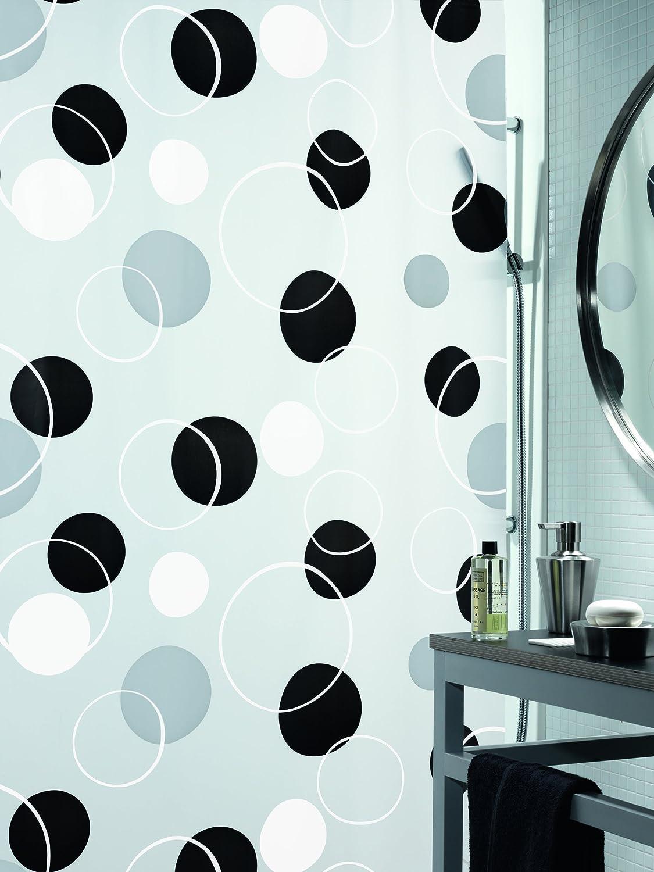 Spirella BUBBLE ORANGE  Shower Curtain 180 x 200 cm PEVA